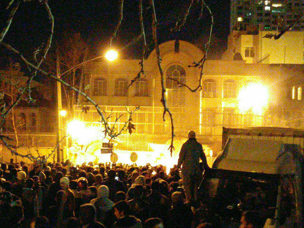 Angry Protesters Ransack and Torch Saudi Embassy in Iran After Mass Execution
