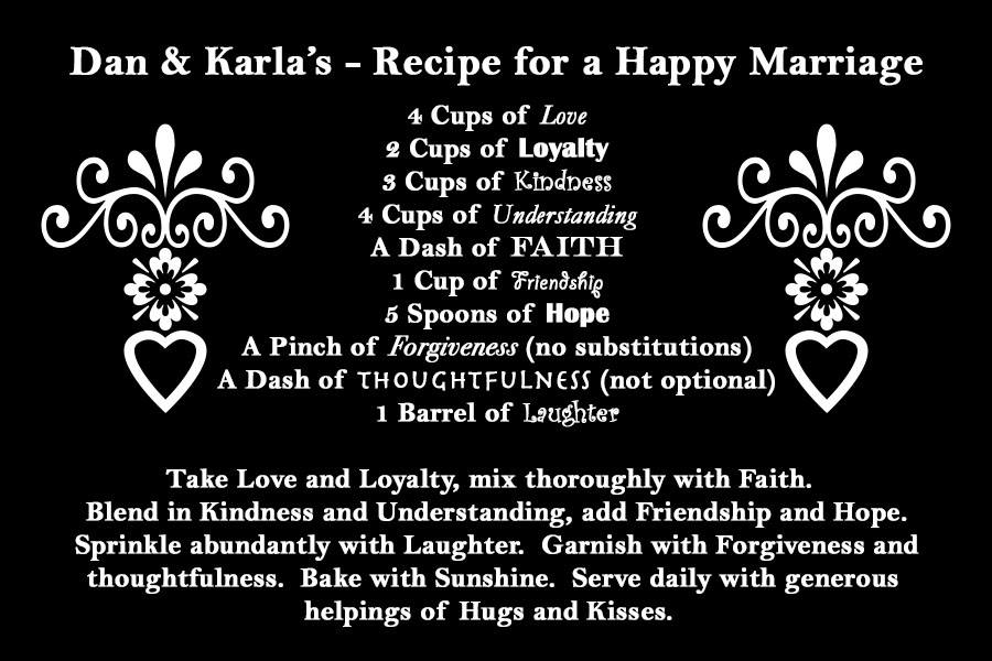 ingredients for a good marriage