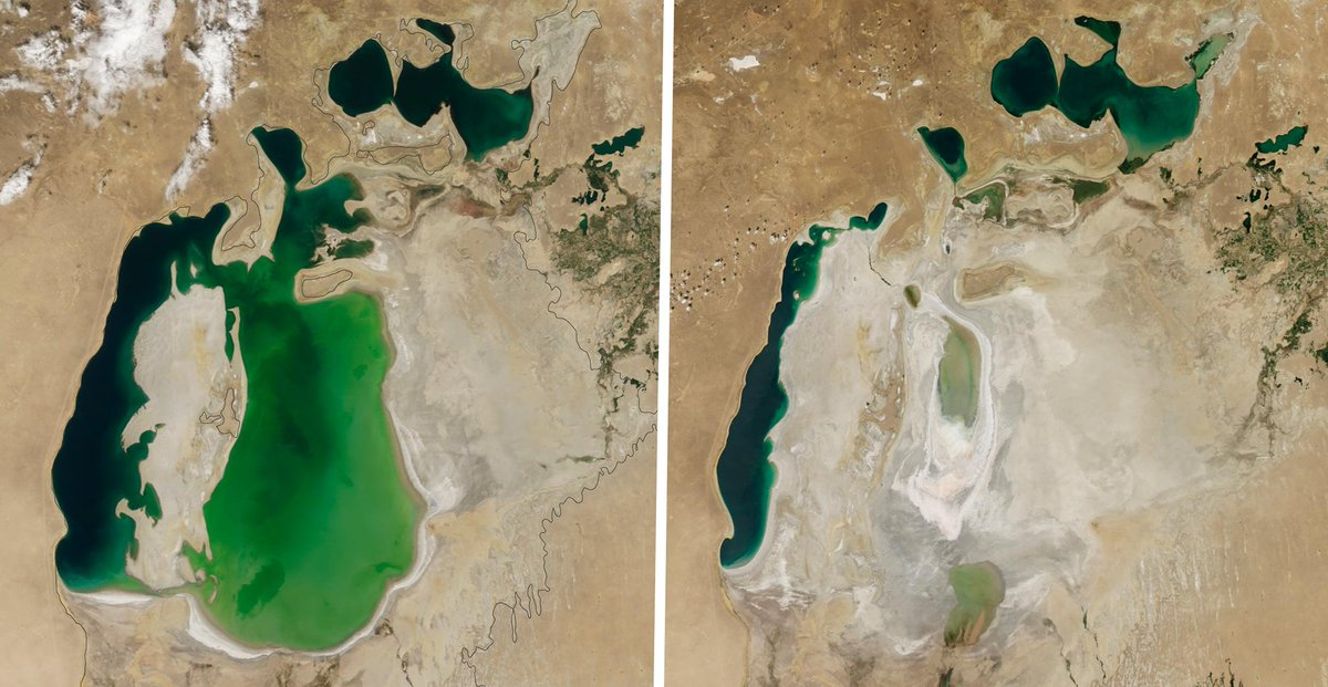 Before and after photos show dramatic change to landscapes over the years: https://t.co/NbJG3HQ4pn #climatechange