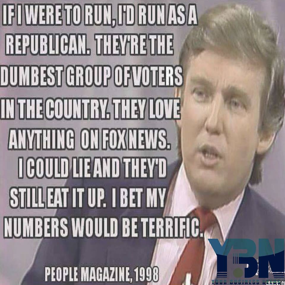 So dumb #donaldtrump told the truth back in the day... it just took almost 20 years to prove it. https://t.co/XJvgob7mRh
