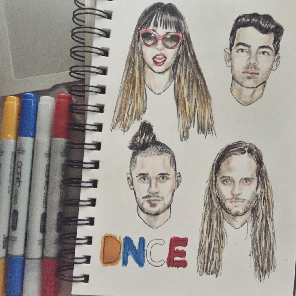 drew me some @DNCE because they're groovy af (this could have been better) https://t.co/NoC18chQaB