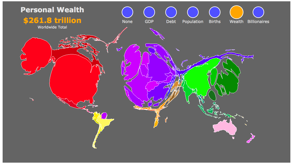 Dina D Pomeranz On Twitter World Map Scaled By Size Of Population