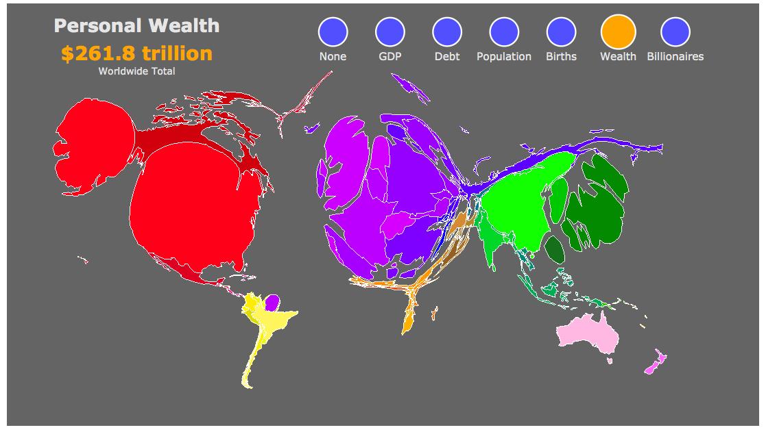 Dina D Pomeranz On Twitter World Map Scaled By Size Of Population