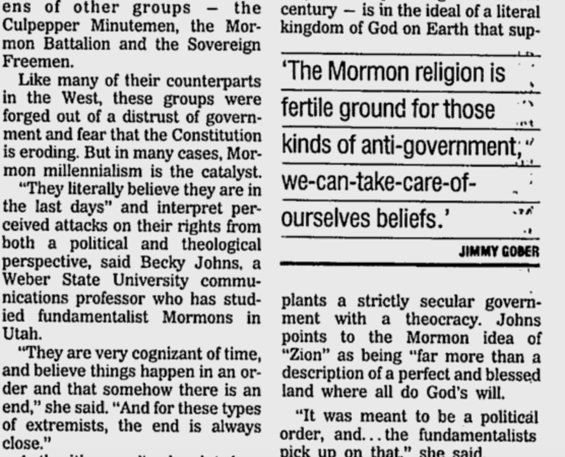 Utah Militias Tied Up In Mormon Culture By Mike Carter @AP 5/6/95 https://t.co/XFudRguZw8 #OregonUnderAttack https://t.co/v5PwAduNAF