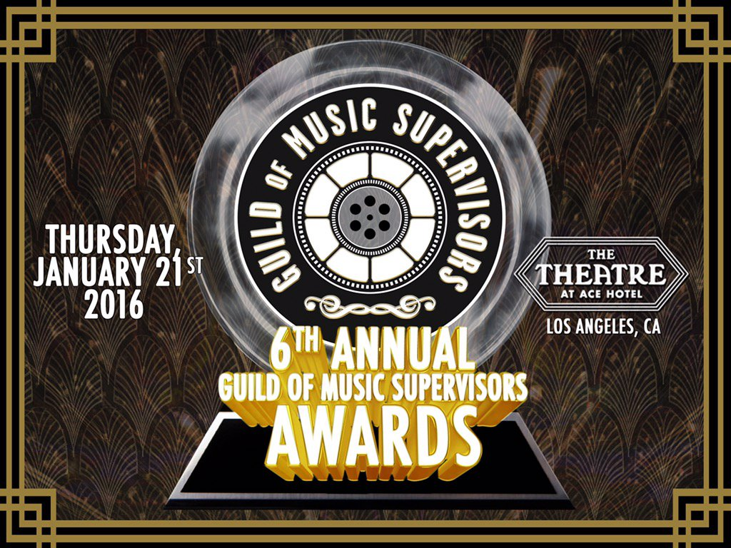 Less than a week away from our 6th Annual Guild Of Music Supervisors Awards. Visit https://t.co/IqBVaUccLv for more! https://t.co/3eC6mCifg2