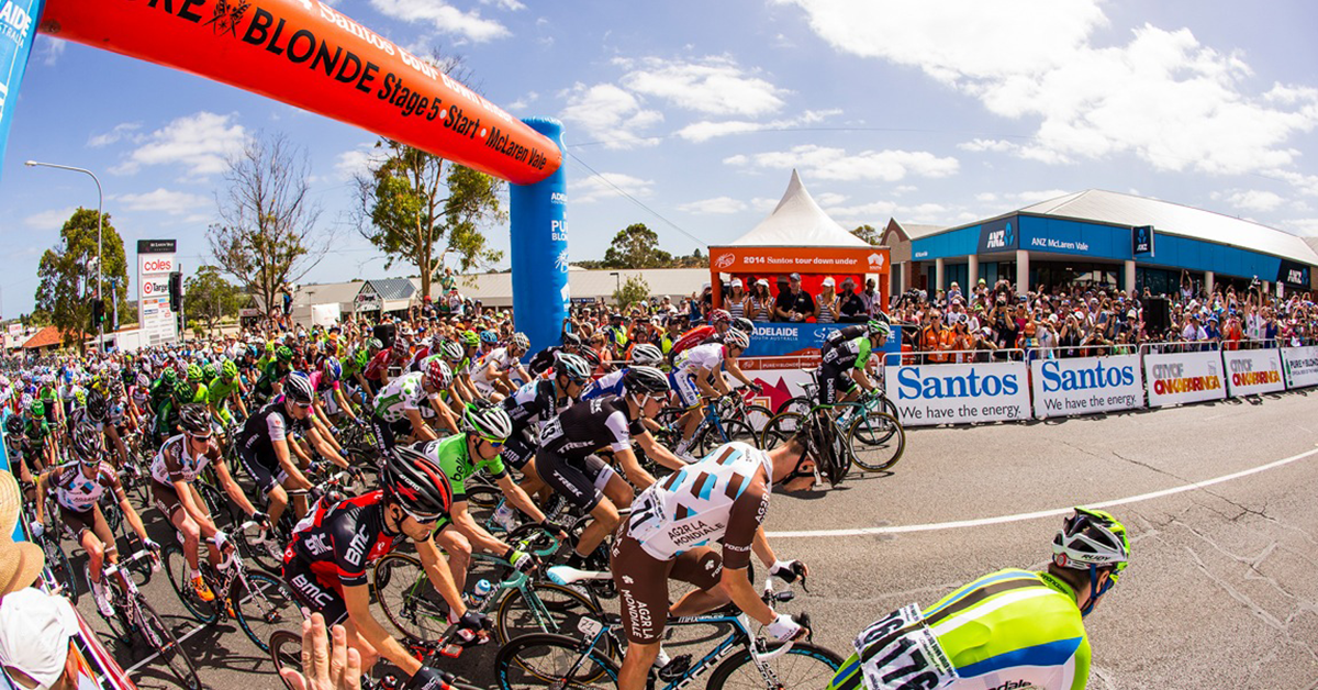 The Santos Tour Down Under starts today, what a great spectacle for the city of Adelaide! https://t.co/LefnaBg7e7