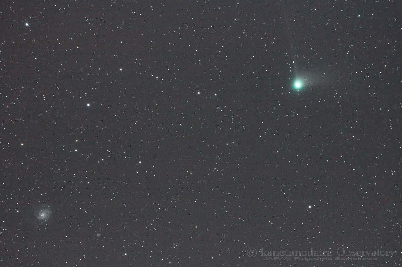 M101回転銀河に近づくカタリナ彗星(2016/01/16)
