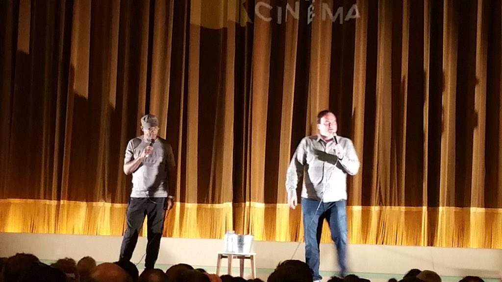 Gee Whiz! On date night to watch The Hateful Eight at @randwickritz and Mr Tarintino and Samuel L introduce the film https://t.co/9K8M54zYuN
