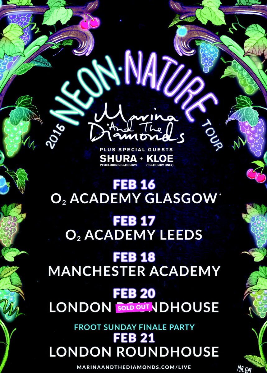 Calling all @MarinasDiamonds fans! @weareshura will be supporting on 20 & 21 Feb https://t.co/0B7vps8EbF https://t.co/iG0QlHwQ99