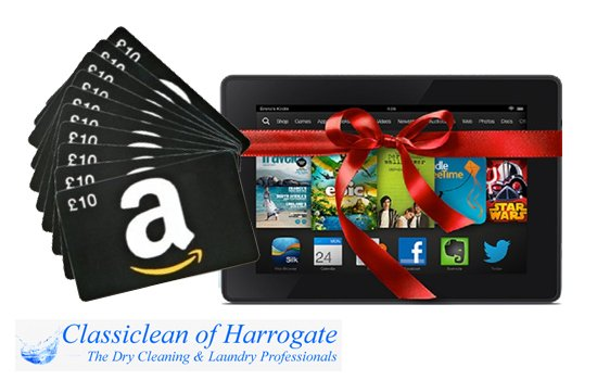 For your chance to #WIN Kindle Fire, £100 Amazon vouchers & £100 dry cleaning vouchers follow @ClassiHarrogate + RT https://t.co/3GaMbruube
