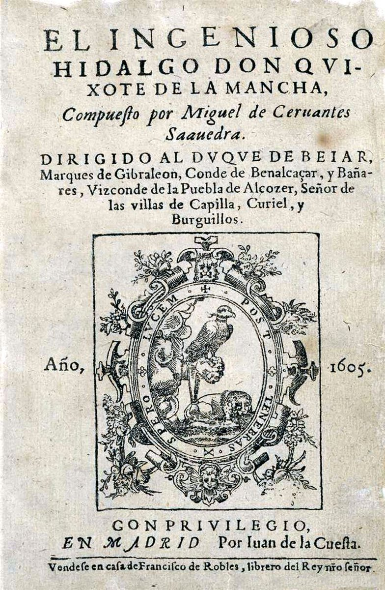 16 de enero de 1605. Se publica en Madrid «El ingenioso hidalgo don Quijote de la Mancha» https://t.co/jFs08YlhDi https://t.co/nijSNNcD3b