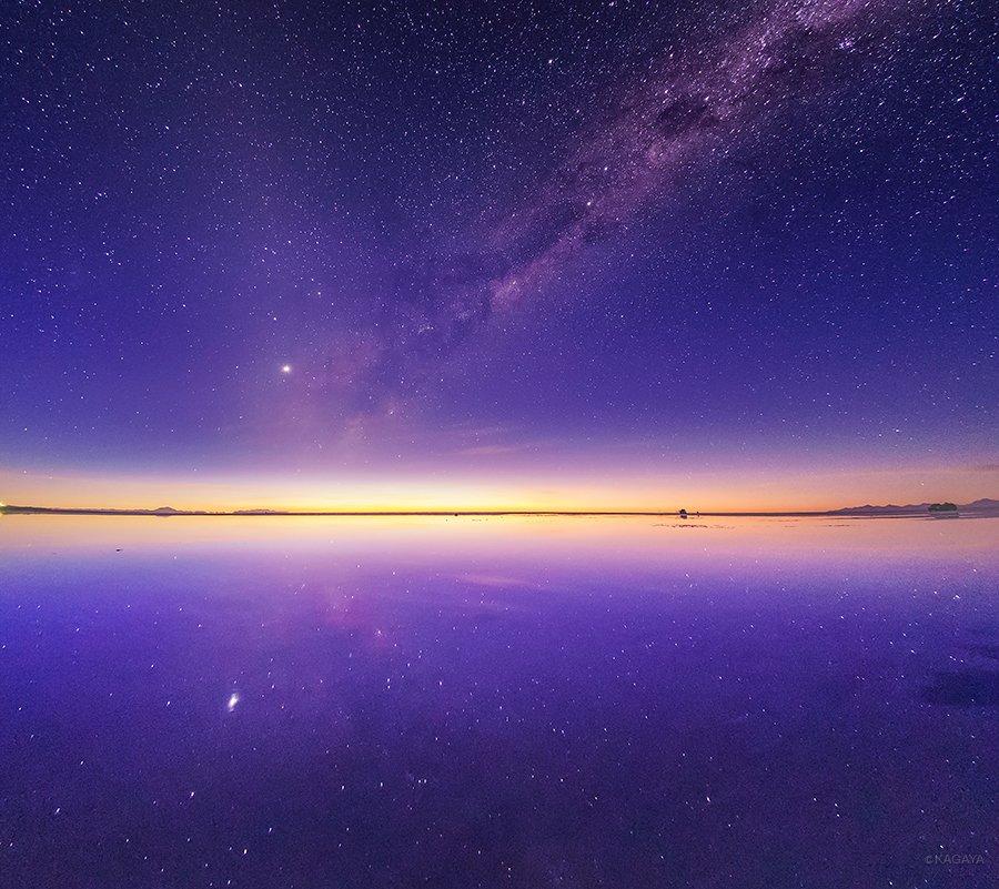 ウユニ塩湖の夜明け。あたりにはフラミンゴの鳴き声が響いていました。(昨日撮影) pic.twitter.com/n1ueC1f2Sl