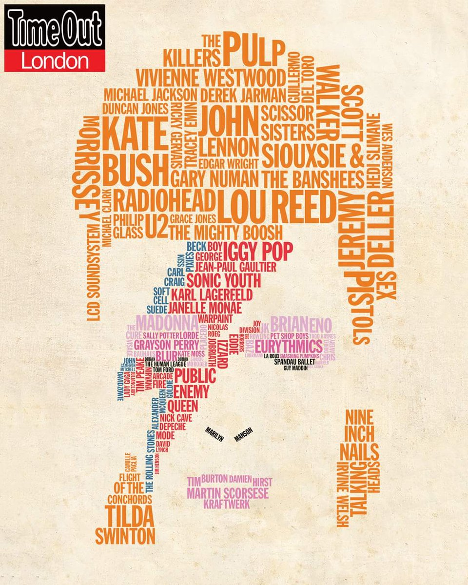 . @TheMightyBoosh feature prominently on @TimeOutLondon's stunning Bowie influence tribute cover. https://t.co/wyl5zzjof2