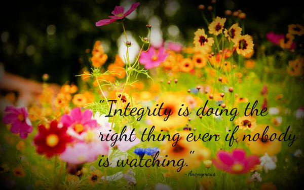 Shari Fenn On Twitter Integrity Is Doing The Right Thing Even If