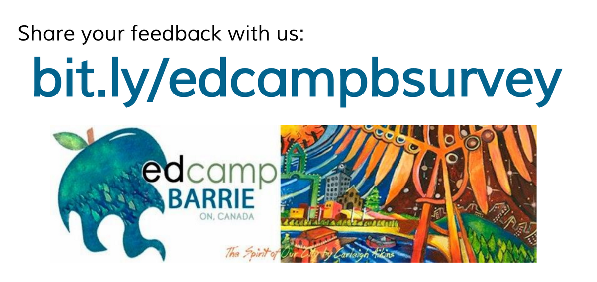 Share your feedback with us: https://t.co/uuCF4o7BmW #edcampbarrie #smcdsblearns @scdsb https://t.co/BlPE7nthT2