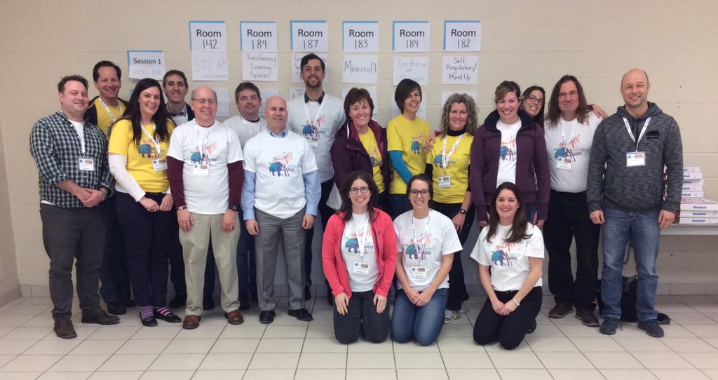 Awesome EdCamp Barrie team! #EdCampBarrie #EdCamp #SCDSB #SMCDSBlearns #bettertogether https://t.co/HH2beEBOCI