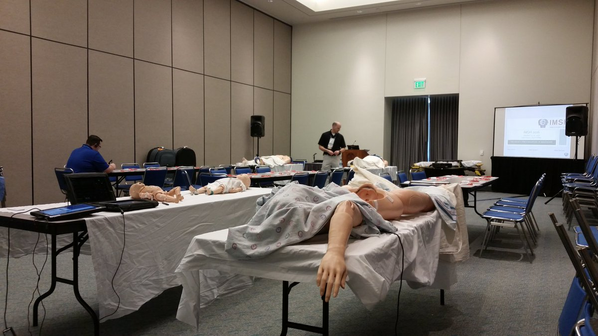 Getting ready for full - house at Fix Everything Pre-Con.  #IMSH2016  #gaumard #cae #laerdal<br>http://pic.twitter.com/wswHNQRmE9