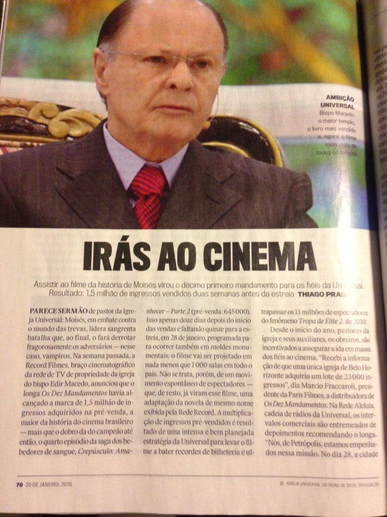 Edir Macedo virou filme.