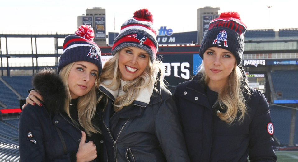 15a15179c98d ashley and katie hess of thepartyof2 talk patriot game day chic on bridget  foley s diary