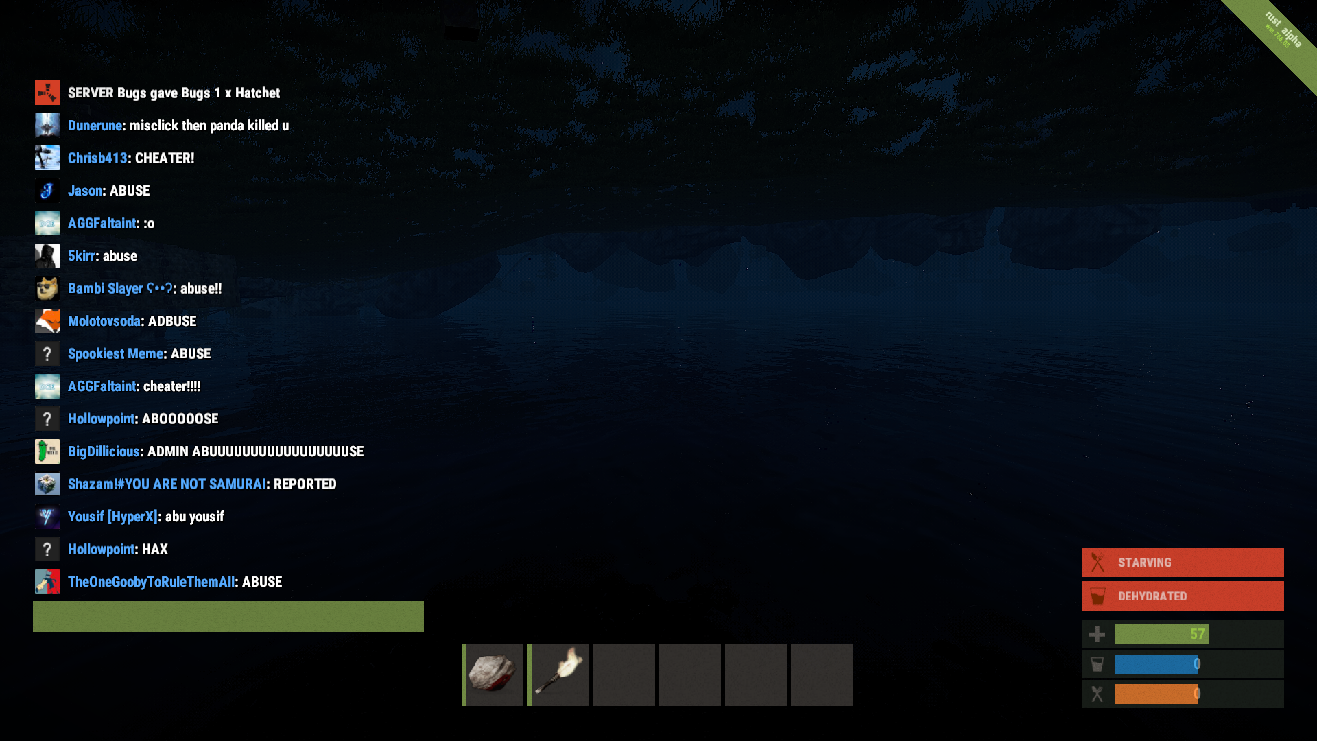 Admins spawning items (in fact it's a problem) - Rust