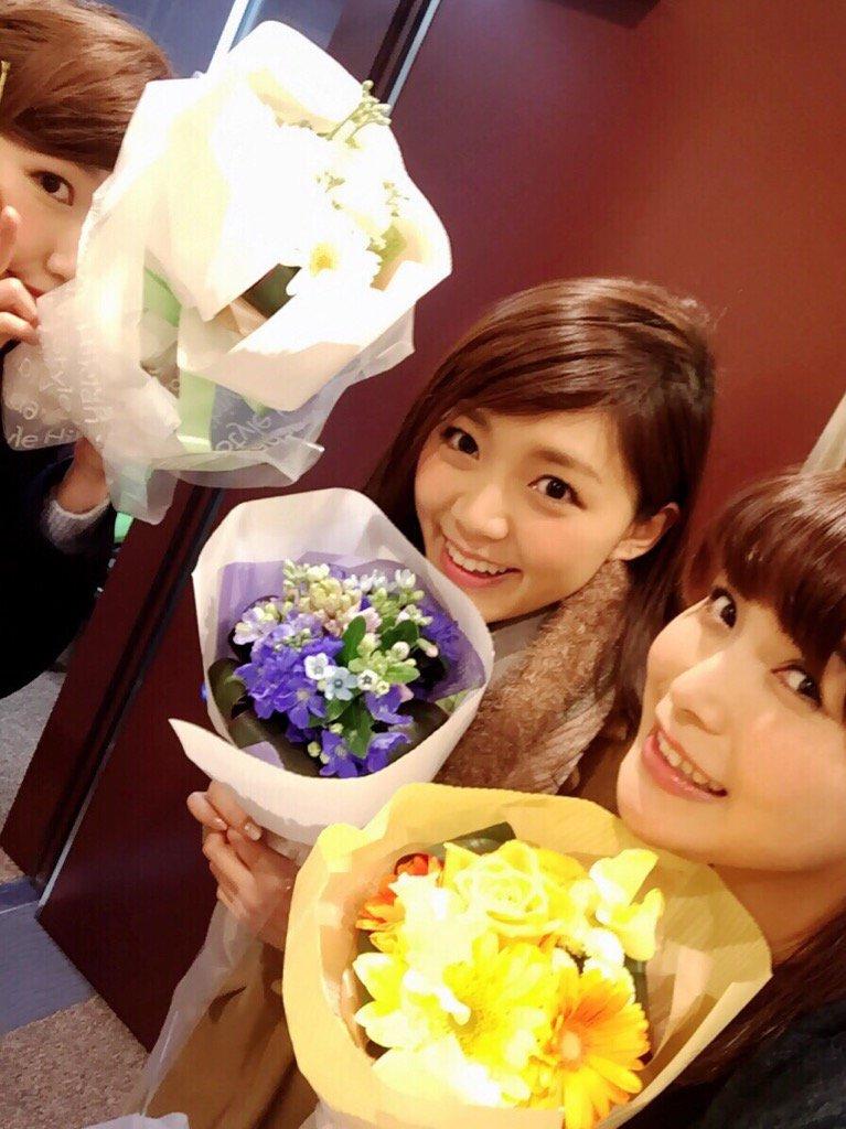 おはよん♪昨日のニコ生後のお写真(OvO)お花いただきました❤️ pic.twitter.com/OPp4Z7PQuz