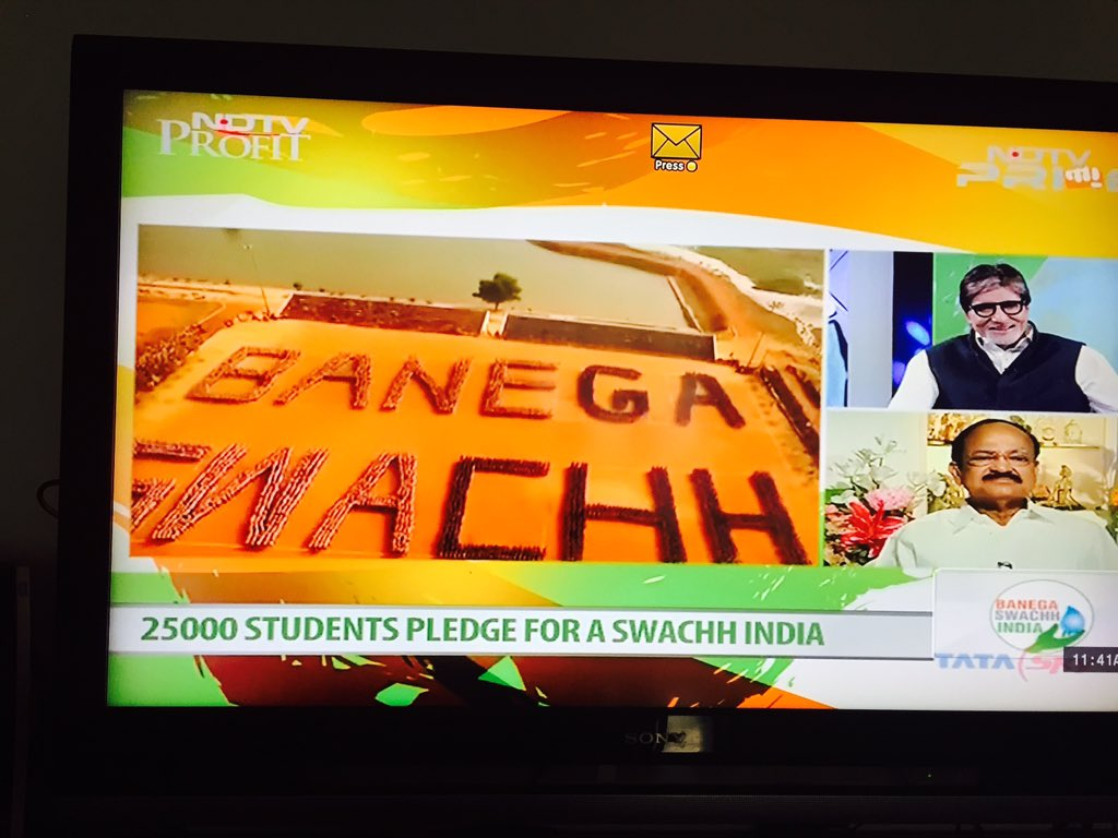 Amazing 'Movements' going parallel. #SwachhIndia and #StartupIndia: Recognising Youth Power in building the future..