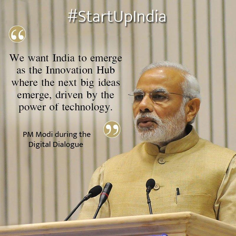 PM Modi on #StartUpIndiaRead and Share via NM App