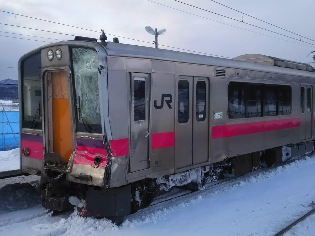 津軽線、事故該当車両の701系N5編成…運転席のサバイバルゾーンはしっかり確保されてました。 pic.twitter.com/iW9vEtTPg6