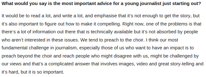 .@NickKristof's advice to young journalists https://t.co/cHX7J2ocl7 #journalism https://t.co/1qaeqChOZV