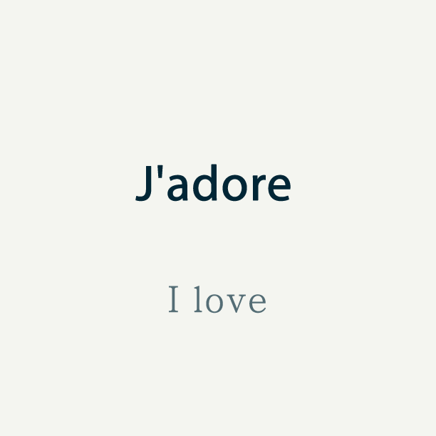 Talk In French On Twitter French Word Of The Day Jadore I Love Https T Co Tgxivnfk