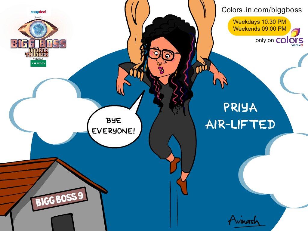 Bigg Boss 9 Day 96: Priya Malik Gets Airlifted By Akshay Kumar And Nimrat Kaur!