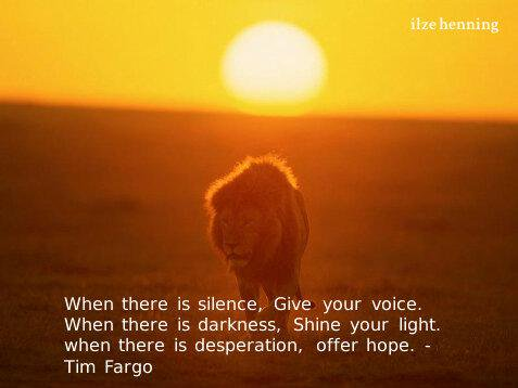 Roman Jancic : @RomanJancic: When there is silence, Give your voice........ - Tim Fargo… https://t.co/N4inAurbwN https://t.co/KlcNMX1p7G
