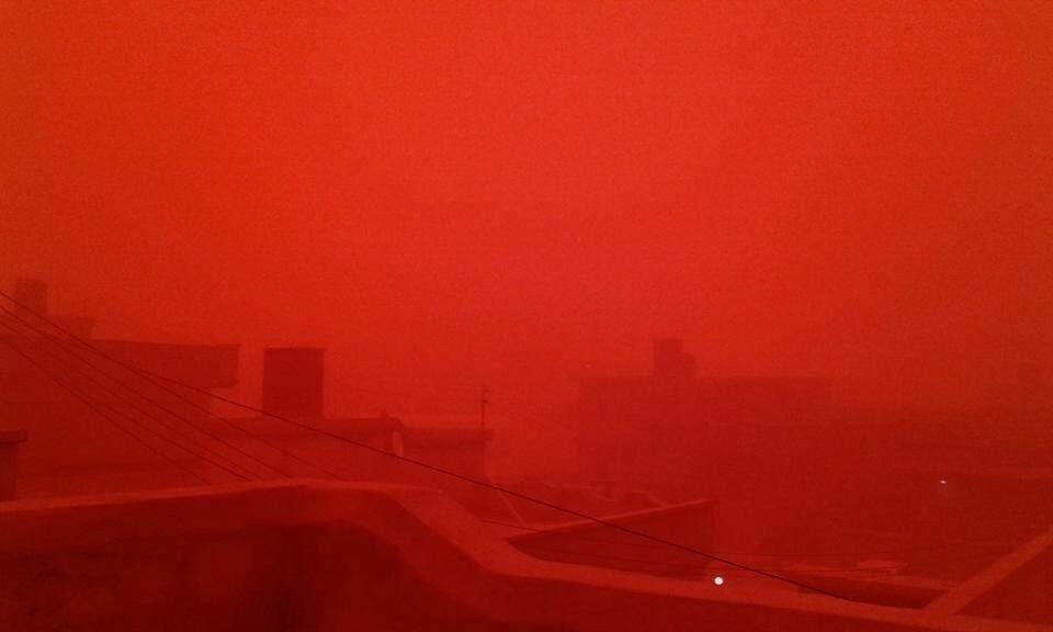 Red dust storm over #Tobruk #Libya https://t.co/ZYU131gZ9U