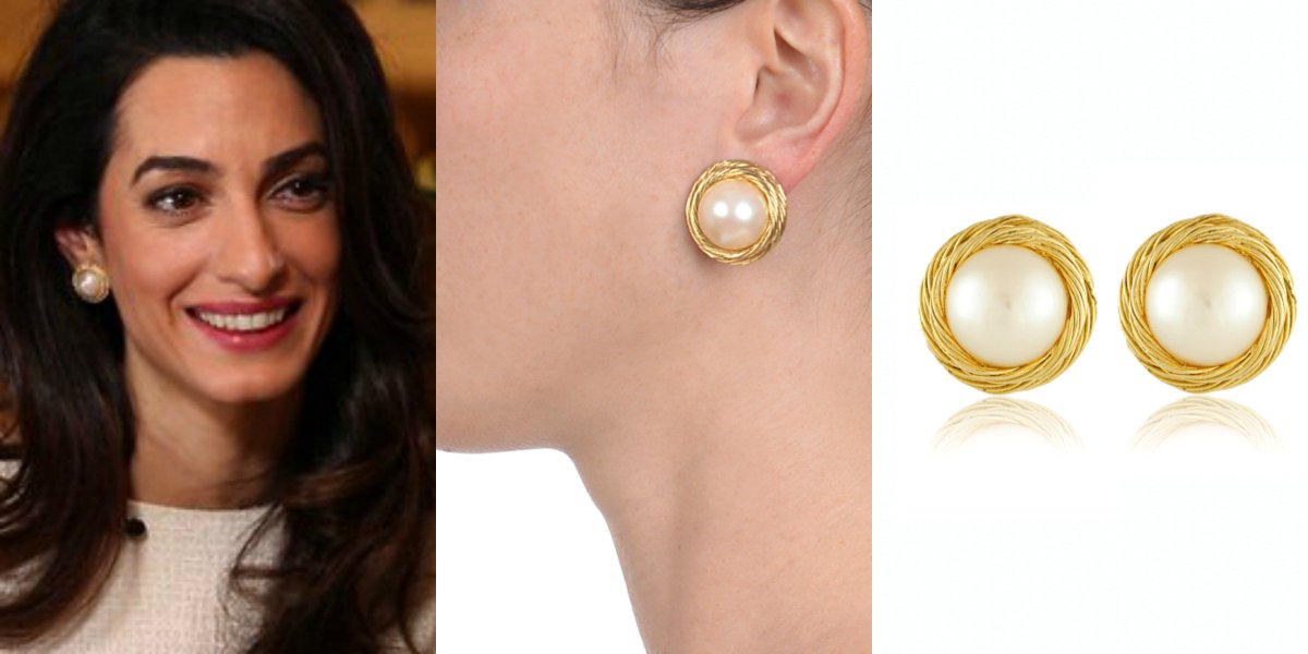 Amal Clooney Style On Twitter S Pearl Earrings By Givenchy Vintage Updated Post Https T Co Phtcmp Amalclooney