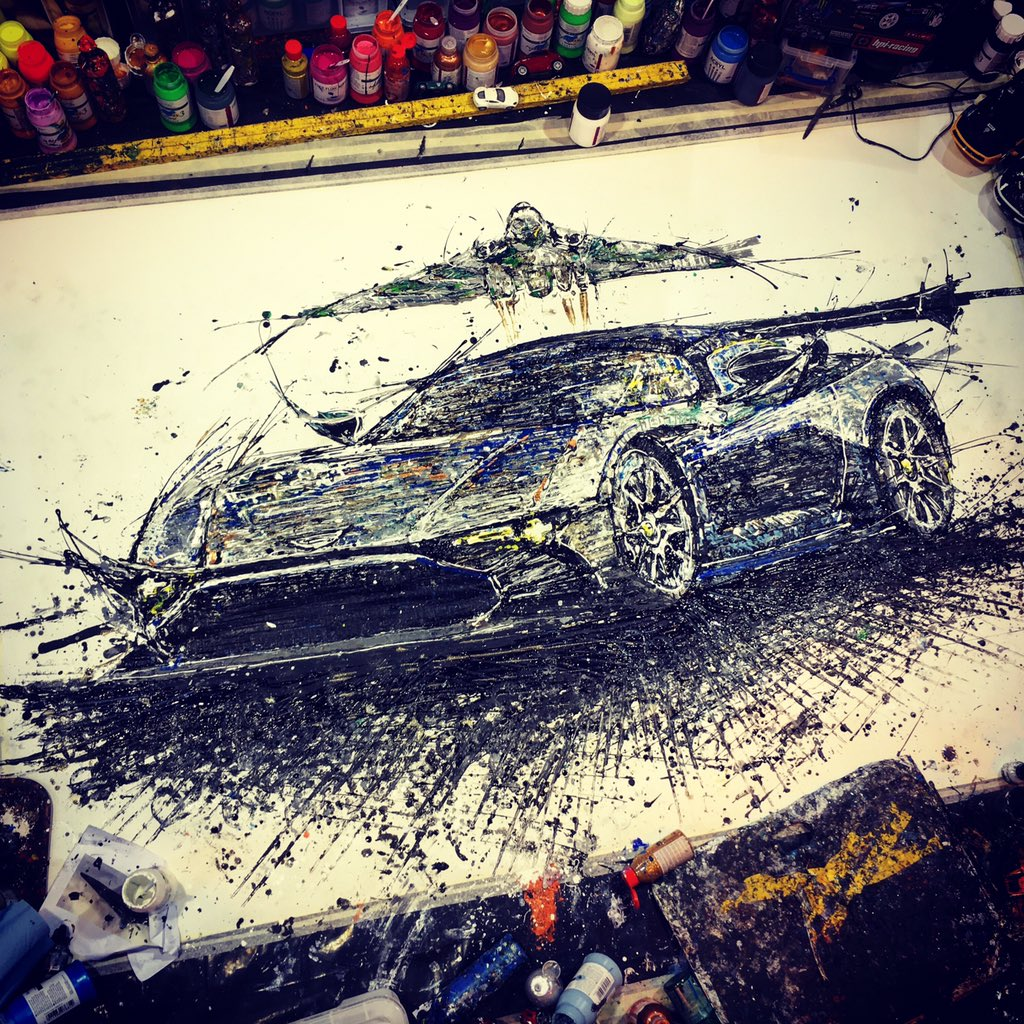 Ta-dah! Here's the now complete @astonmartin Vulcan @popbangcolour artwork created @Autosport_Show - like it? #ASI16 https://t.co/yrEGq6AUX2