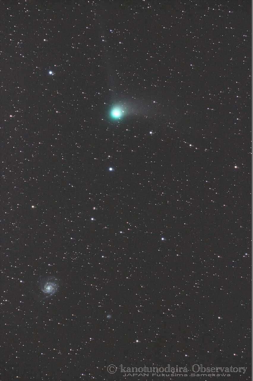 M101銀河とカタリナ彗星の邂逅。