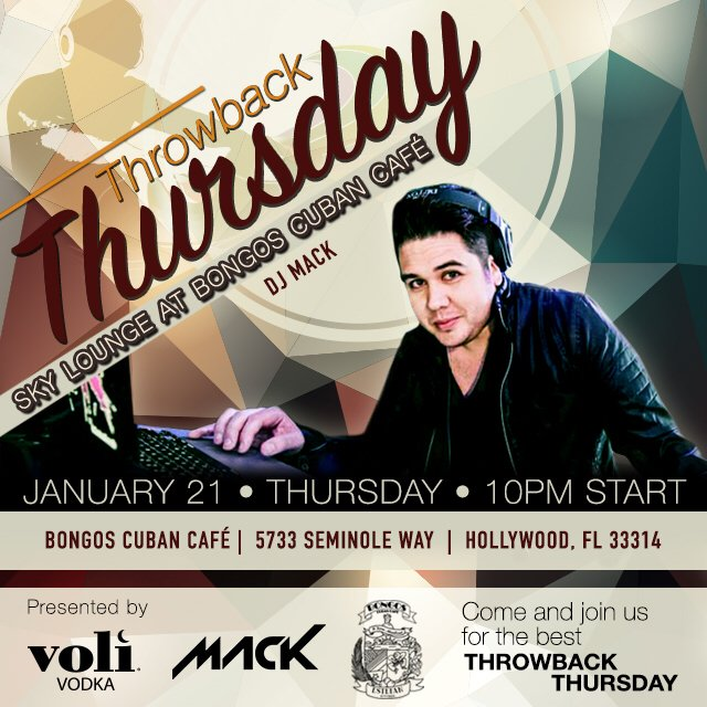 Can't wait for #throwbackthursday with @MACKONTHERADIO @BongosHollywood January 21st! #volivodka #fortlauderdale https://t.co/8CifRMnfhH