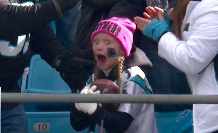 This is little girl wins the internet today. Go Panthers #keeppounding #SEAvsCAR https://t.co/sajihbQeHM