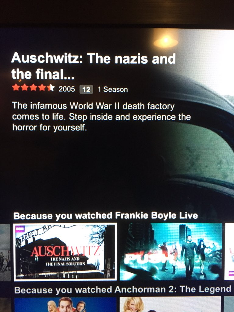RT @CatCalledJames: @frankieboyle What is @NetflixUK trying to tell me? https://t.co/YR4eo2BzSa