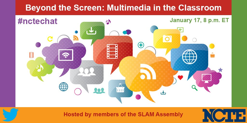 Join us tonight for #nctechat at 8 PM ET. Beyond the Screen: Multimedia in the Classroom https://t.co/a719IsJccE https://t.co/vLsSDFpFgg