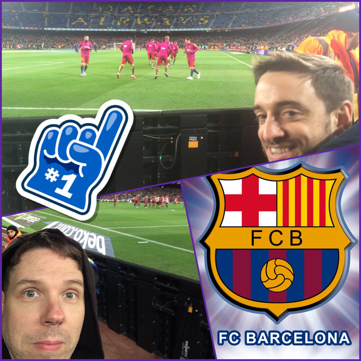 In Barcelona with Mike watching my 1st soccer game! Was a good high scoring game but... https://t.co/HPZQUvVKIf https://t.co/cRXGhx5ri9