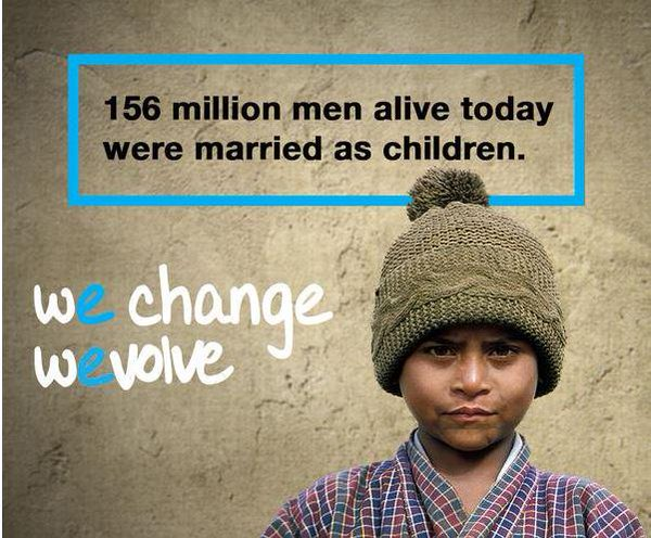 Child marriage doesn't just affect #girls. 156M #men married as children: https://t.co/rQZghIafqy  #WEvolve