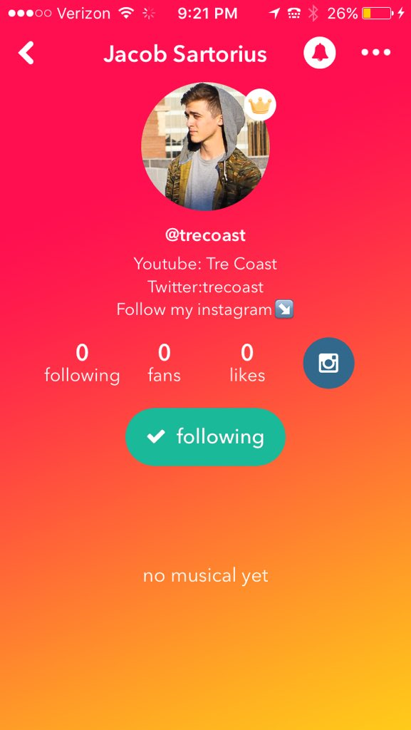 how to delete musically profile