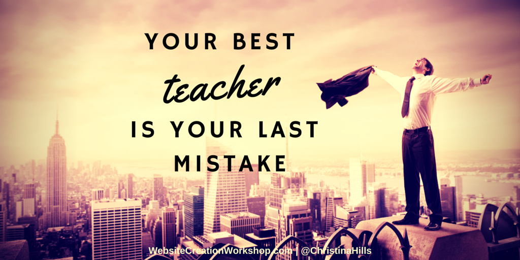 Learn from your mistakes! #Inspiration #Business https://t.co/8slOAoVdQ8