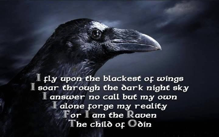 Astrid Ingrid Gunnar On Twitter For I Am The Raven The Child Simple Viking Quotes Images