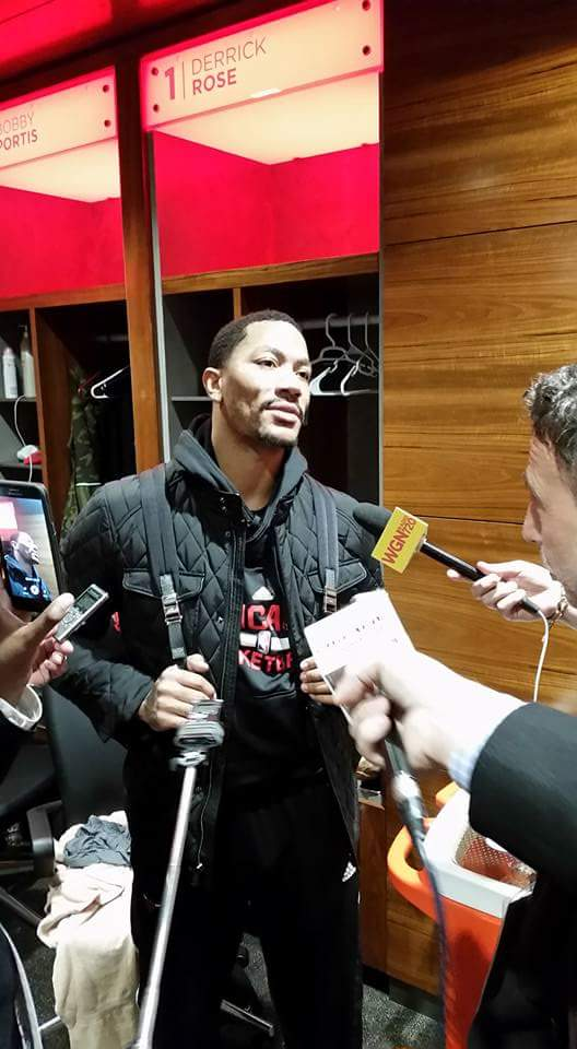 "Rose- ""It's unreal people think I can't dunk anymore but to each his own."" #TheBIGS #SeeRed https://t.co/v7hP8oj9T2"