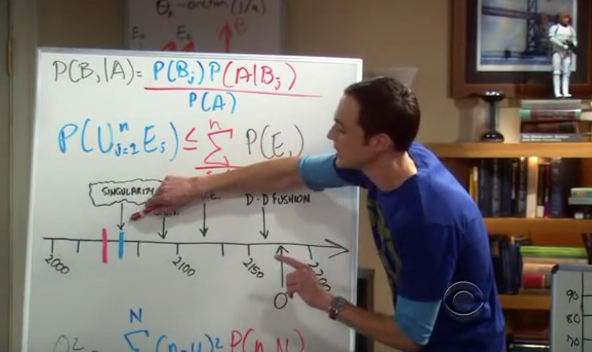 Bayesian Inference on Sheldon's Life Expectancy in Big Bang Theory
