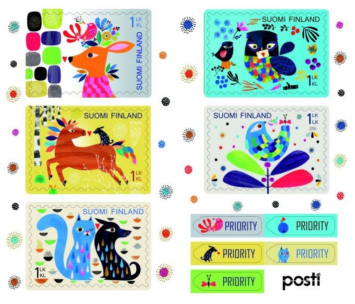 フィンランドから1月22日にフィンランド郵政から発行されるバレンタイン切手。Anne Vasko (アンネ・ヴァスコ)さんのイラストで動物たちがとても可愛らしくデザインされています(#^.^#)入荷をお楽しみに♪ https://t.co/9T6fTKUBsR
