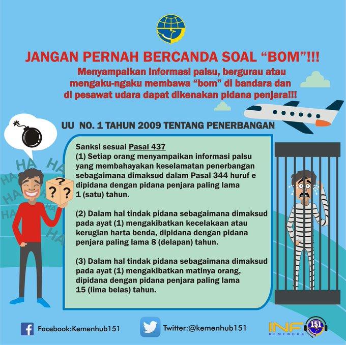 Jangan Pernah Bercanda soal Bom di Bandara & Pesawat, Ini Hukum Pidana yang Mengancam