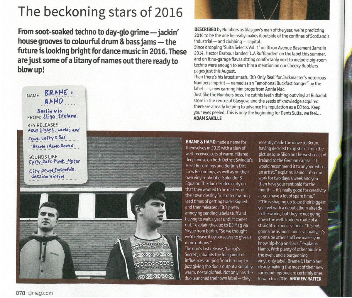 "Proud of our #sligo boys @BrameHamo making it into @DJMag's ""ONES TO WATCH OUT FOR 2016"" -> https://t.co/xXXdrUXoJS https://t.co/AjlITNSvyl"